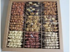 Devynių rūšių riešutų rinkinys pakuotėse, 1 910 g